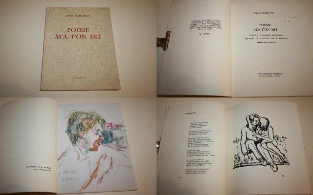 Charitable Lithography Original Georges Lafosse Man Politique Émile Ollivier